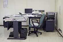 Lonely Office Room With Messy ...