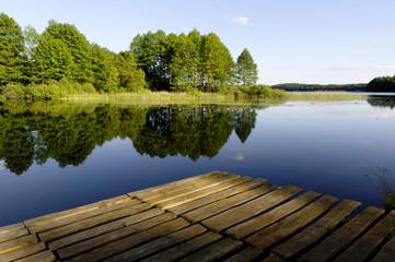 lake and landing stage
