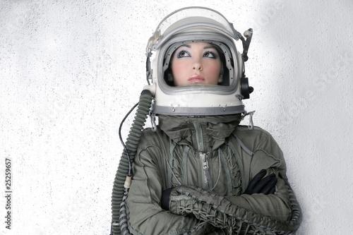 Fotografie, Obraz  aircraft  astronaut spaceship helmet woman fashion