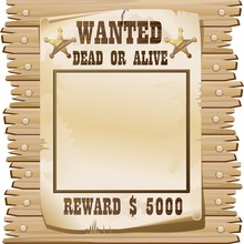 Wanted Dead Or Alive Poster-Ri...