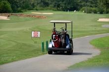 Golf Cart At Tee Off Hole