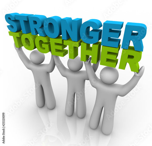 Fotografía  Stronger Together - Lifting the Words