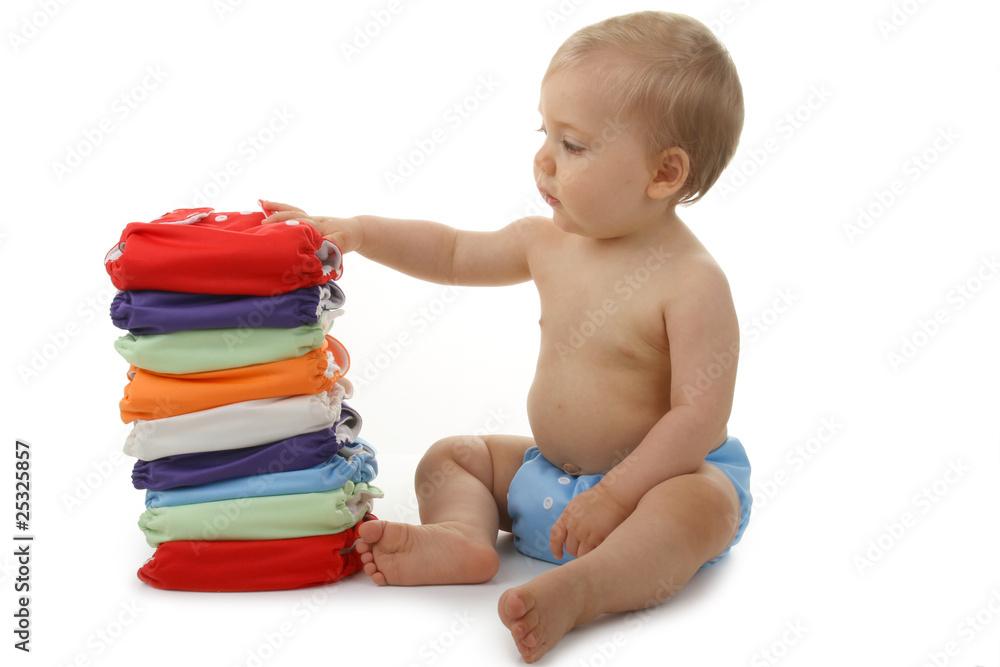 Fototapety, obrazy: bébé et couche lavable