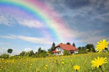 Haus Am Ende Des Regenbogens