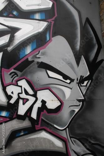 Fototapeta premium Graffiti z mangi