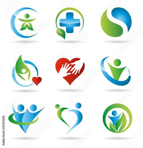 Fotografía  Gesundheitsvorsorge Logos
