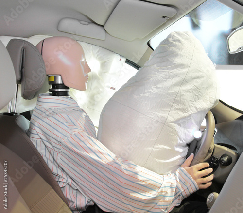 Photo mannequin in a car
