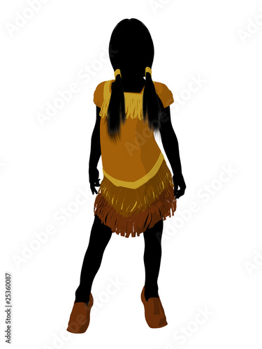 Cuadros en Lienzo Native American Indian Art Illustration Silhouette