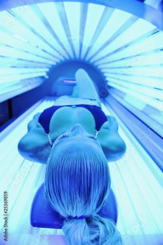 Photo  beauty and spa solarium treatment