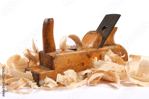 Vászonkép  wood plane with scobs
