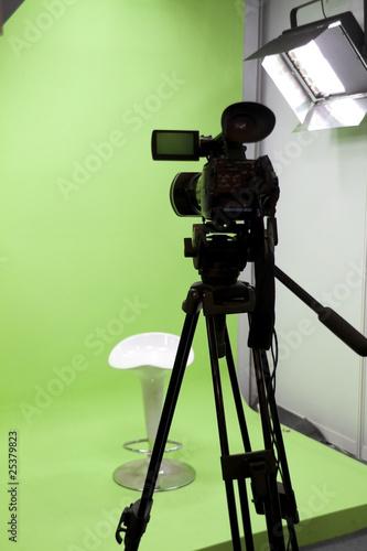 Fototapeta close up of video camera obraz na płótnie