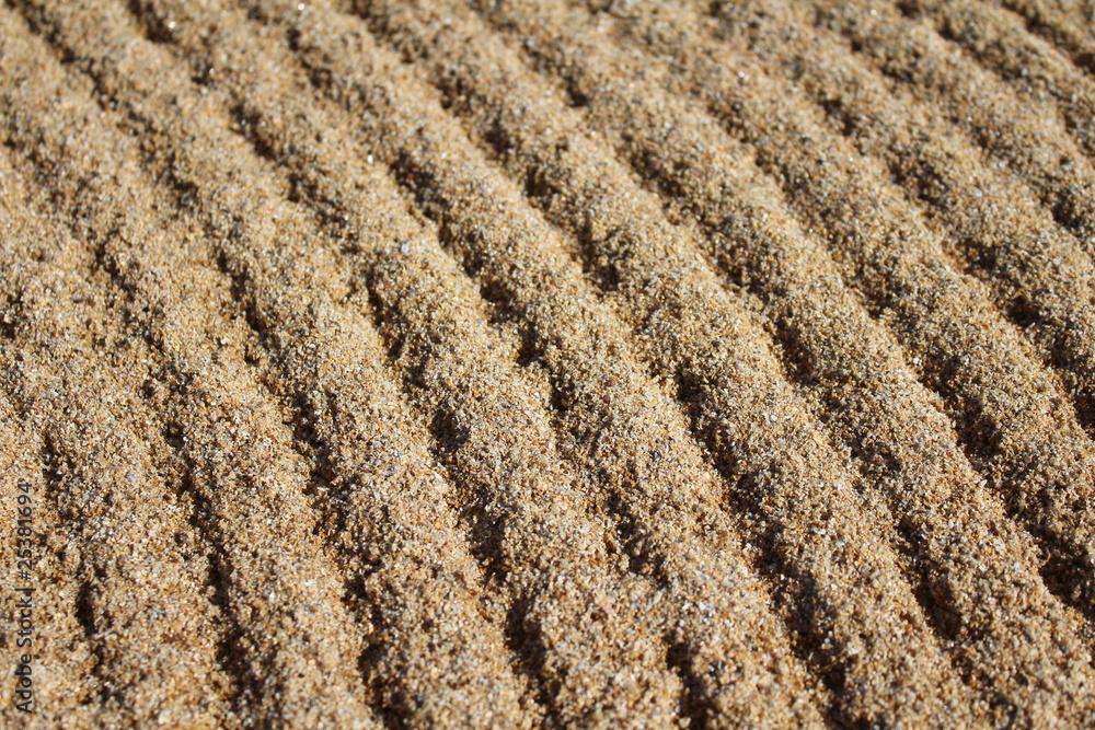 Traits sur le sable