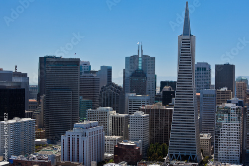 Staande foto Stad gebouw San Francisco Downtown: View from Coit Tower.