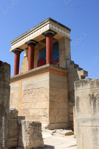 Foto op Canvas North Entrance of reconstruction of the Minoan palace