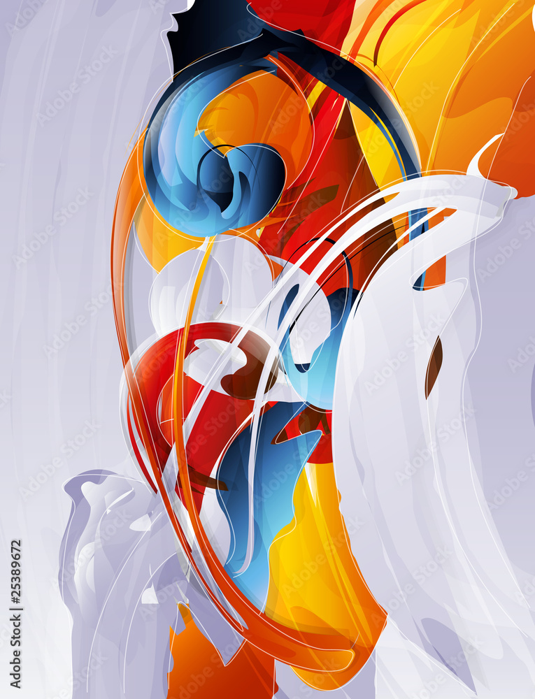 Fototapety, obrazy: abstract vector graphic, bright background in graffiti