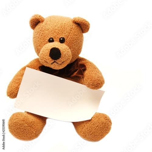 Teddy mit Schild #25390641