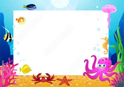 Recess Fitting Submarine Sea life
