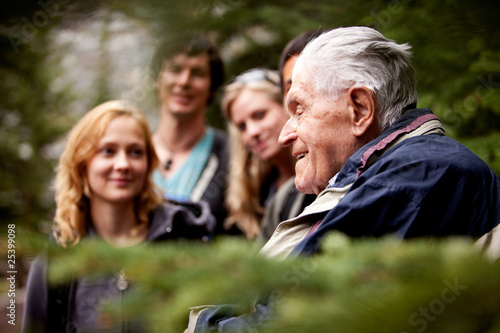 Fotografie, Obraz  Elderly Man Group