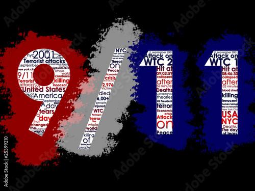 Fotografia  September 11, Typographic Illustration