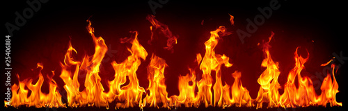 Stickers pour porte Flamme Fire