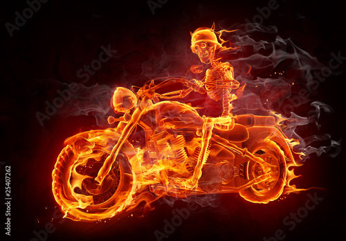 Recess Fitting Flame Fire biker