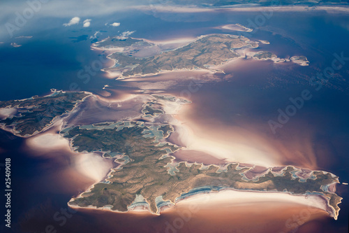Aerial view of archipelago Canvas Print