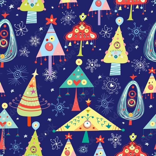 Stoffe zum Nähen Textur Weihnachtsbäume