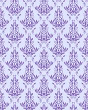 Violet Seamless Floral Texture