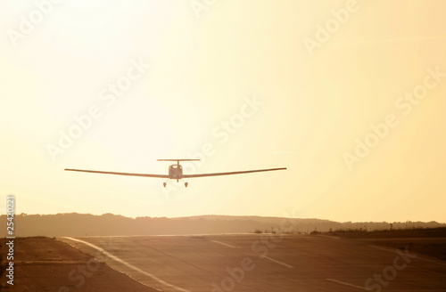 Light aircraft taking off