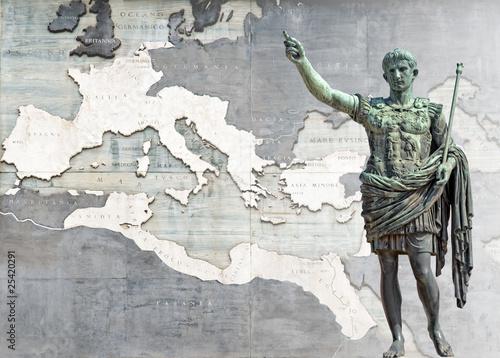 Slika na platnu Augusto e il suo impero (14 d.C), Roma
