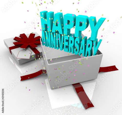 Fotografia, Obraz  Present - Happy Anniversary Gift Box