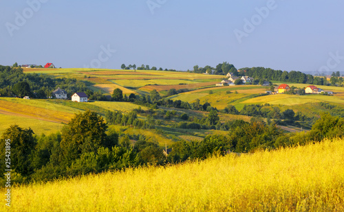 Photo Stands Melon Wavy fields and village