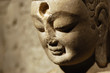 Face of stone Buddha in china
