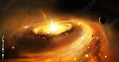 Fototapety na sufit   galaxy-core-w-przestrzeni-kosmicznej