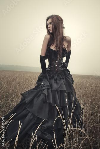 Fotografie, Obraz  Young goth woman