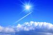 Leinwandbild Motiv 飛行機雲
