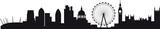 Fototapeta Londyn - Detailed silhouette of london skyline