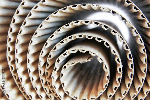 Foto  Corrugated paper rolls