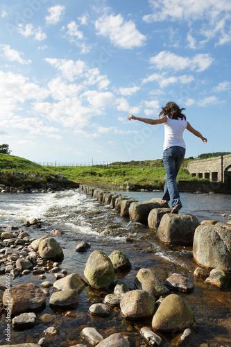 Fotografie, Obraz  Stepping stones