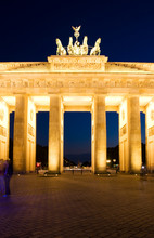 Brandenburg Gat Night Berlin Platz