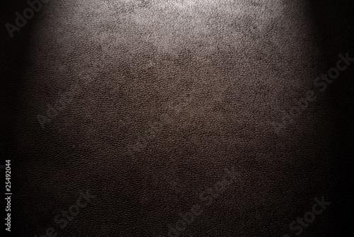 Fotografie, Obraz  Natural qualitative brown leather texture. Close up.