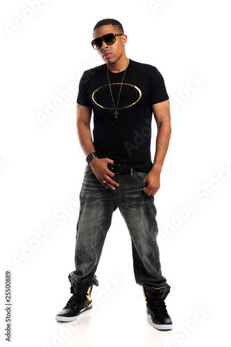 Fotografie, Obraz  Portrait of African American Man Standing