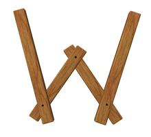 Wooden W