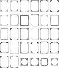 Vector Pattern Frames Set