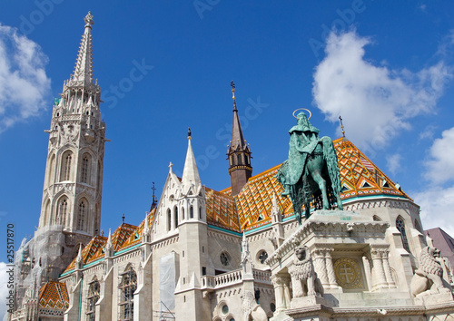 Matthias Church at Buda Castle in Budapest, Hungary Poster
