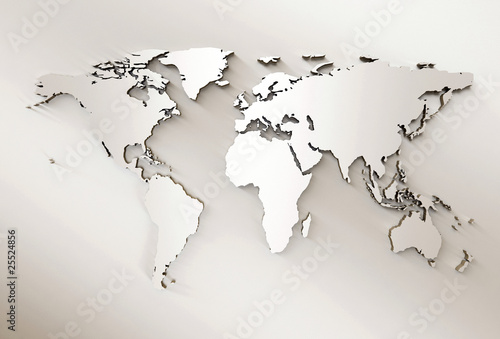Foto op Canvas Wereldkaart World map