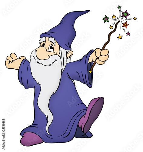 Fotografie, Tablou Zauberer, Magier, Hexer, Druide, zaubern, Magie