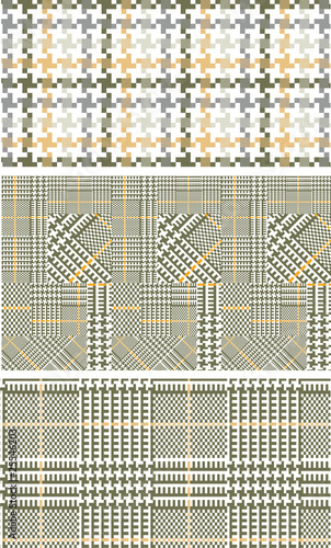 Photo  Houndstooth - Prince of Wales weave tweed patterns