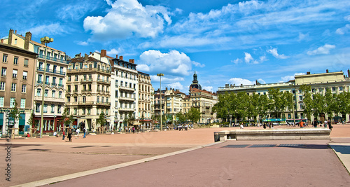 In de dag Antwerpen Place Bellecour à Lyon