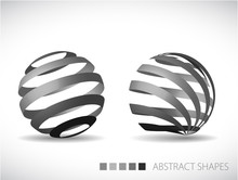 Abstract Spheres Made From Gra...